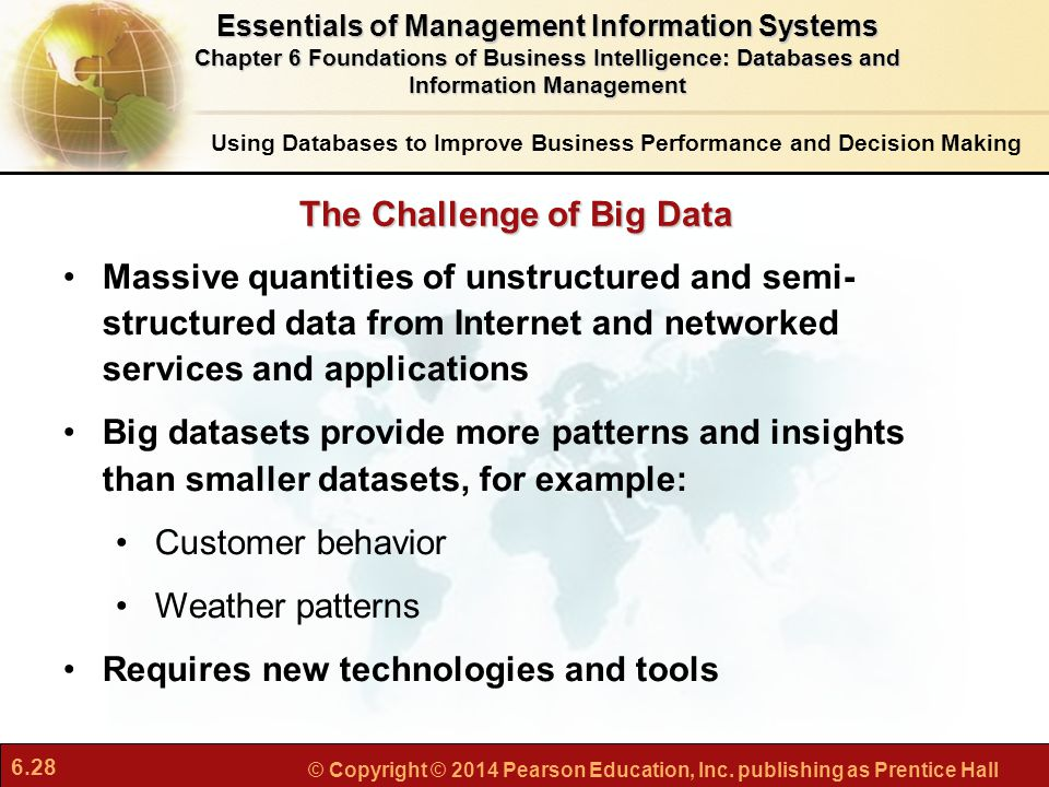 The Challenge of Big Data