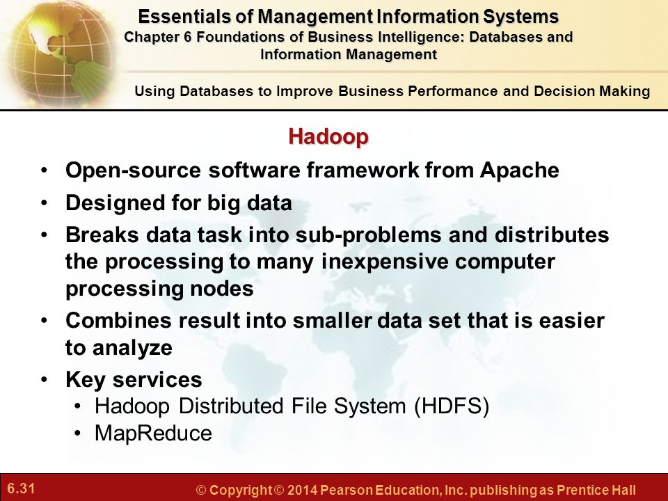 Open-source software framework from Apache Designed for big data