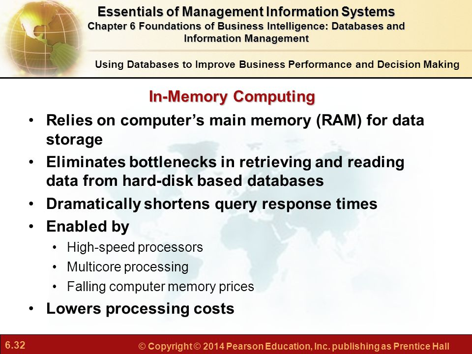 Relies on computer's main memory (RAM) for data storage