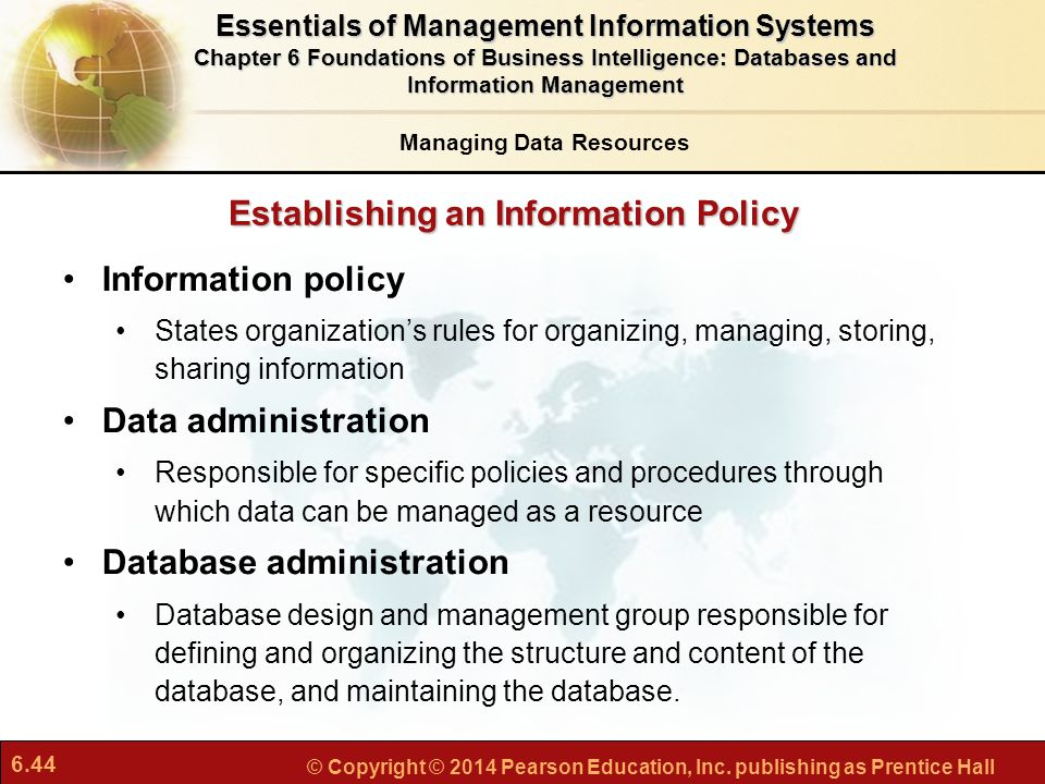 Establishing an Information Policy