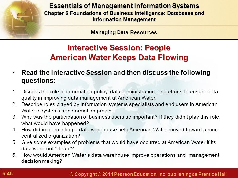 Interactive Session: People American Water Keeps Data Flowing