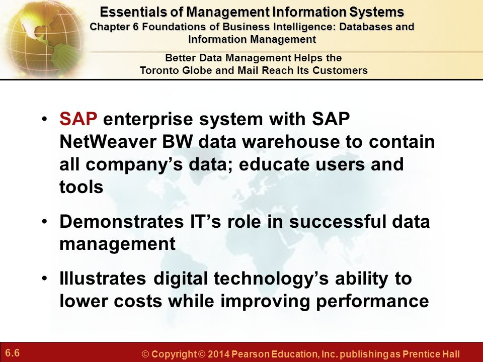 Demonstrates IT's role in successful data management