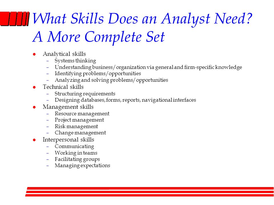 What Skills Does an Analyst Need A More Complete Set