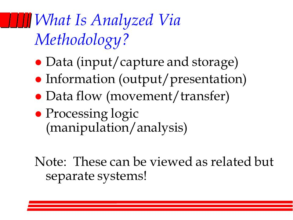 What Is Analyzed Via Methodology