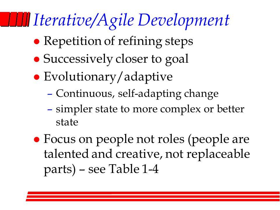 Iterative/Agile Development
