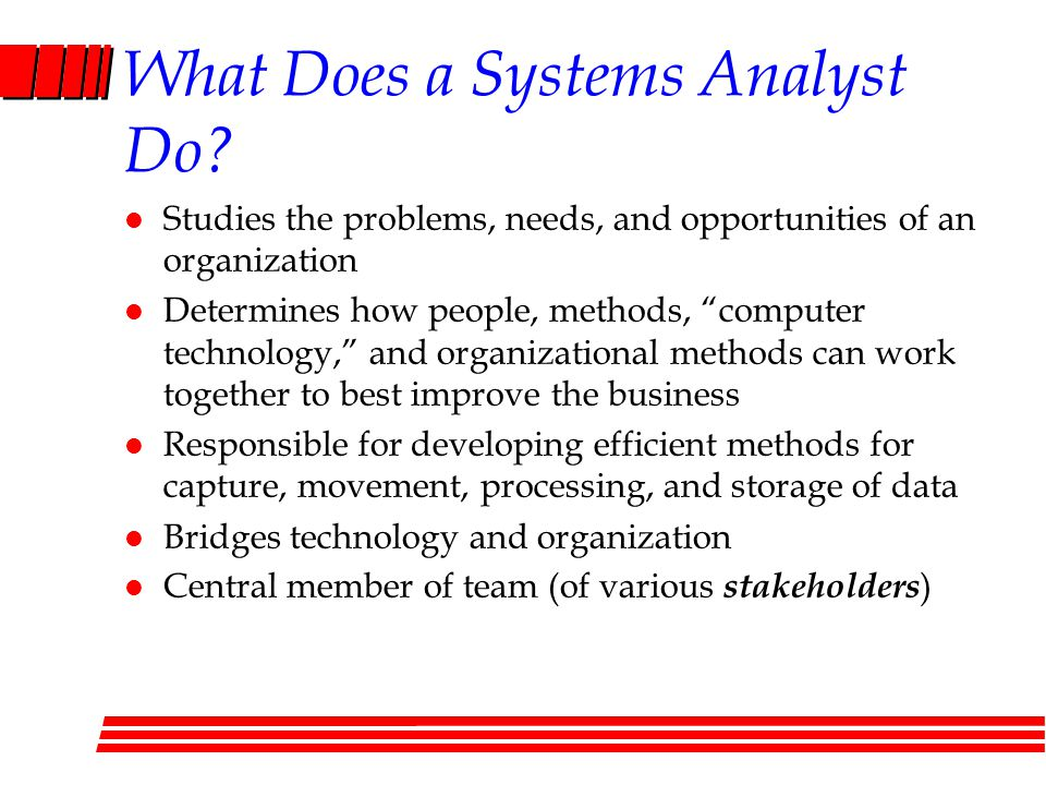 What Does a Systems Analyst Do