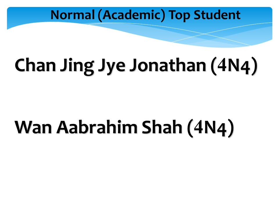 Normal (Academic) Top Student