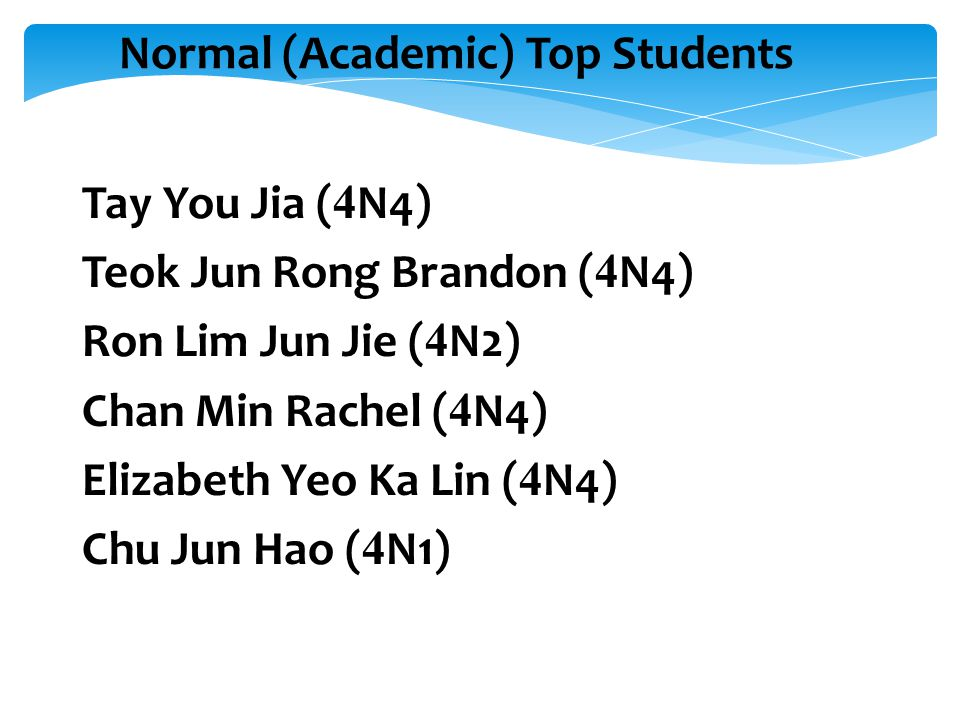 Normal (Academic) Top Students