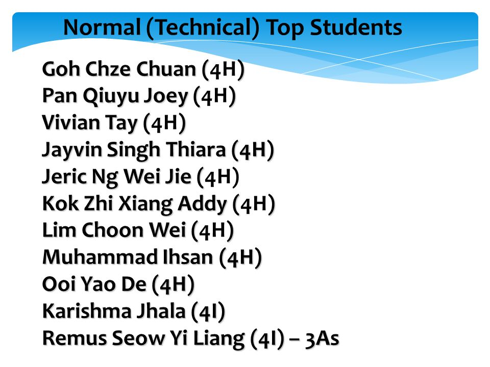 Normal (Technical) Top Students