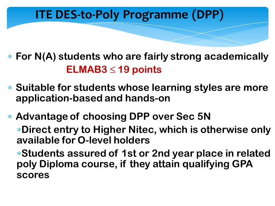 ITE DES-to-Poly Programme (DPP)