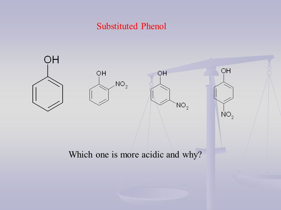 Substituted Phenol Which one is more acidic and why