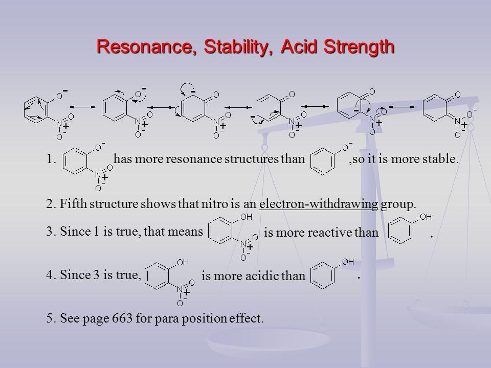 Resonance, Stability, Acid Strength