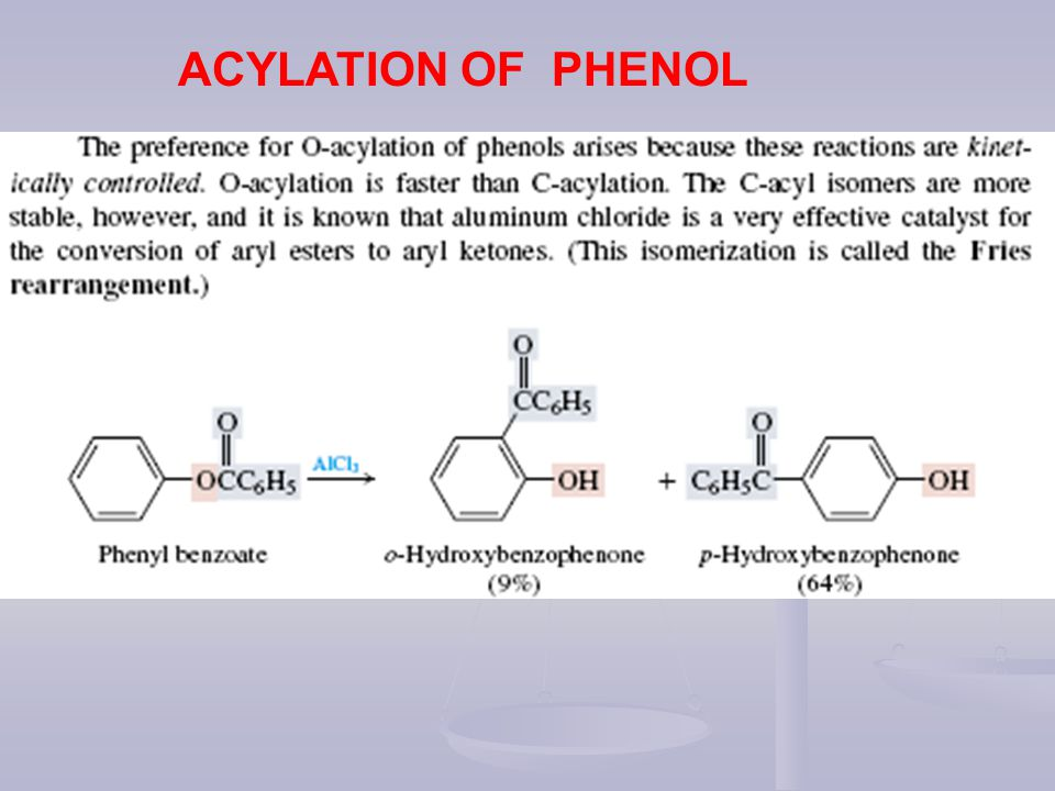 ACYLATION OF PHENOL