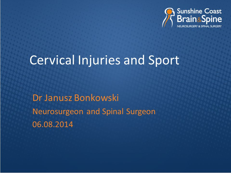 Cervical Injuries and Sport