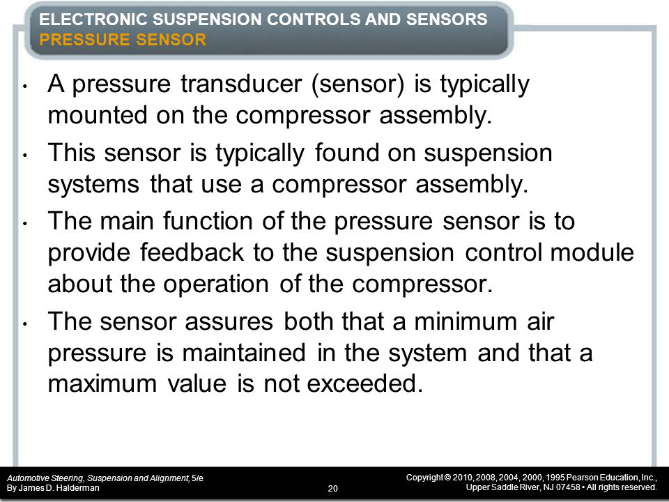ELECTRONIC SUSPENSION CONTROLS AND SENSORS PRESSURE SENSOR