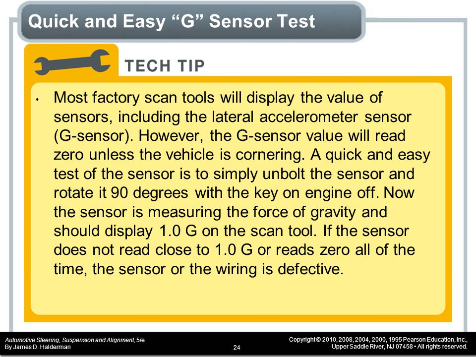 Quick and Easy G Sensor Test