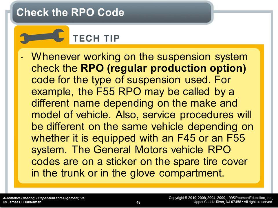 Check the RPO Code