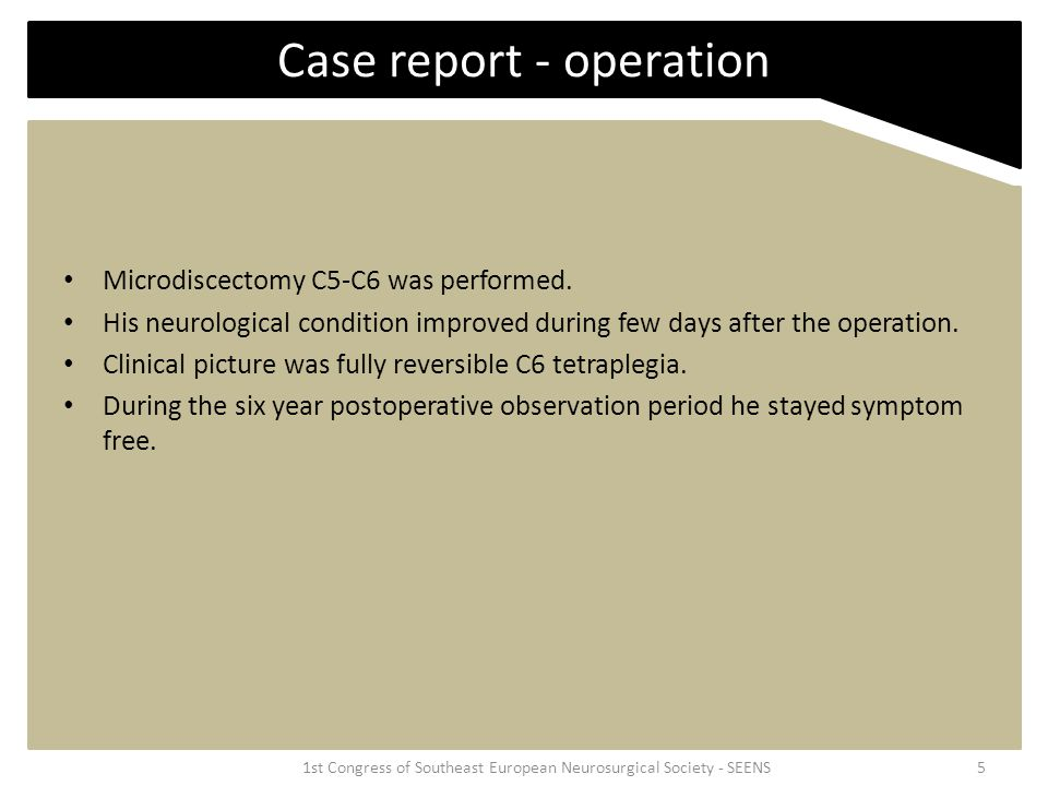 Case report - operation