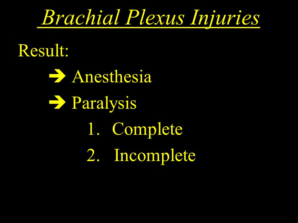 Brachial Plexus Injuries