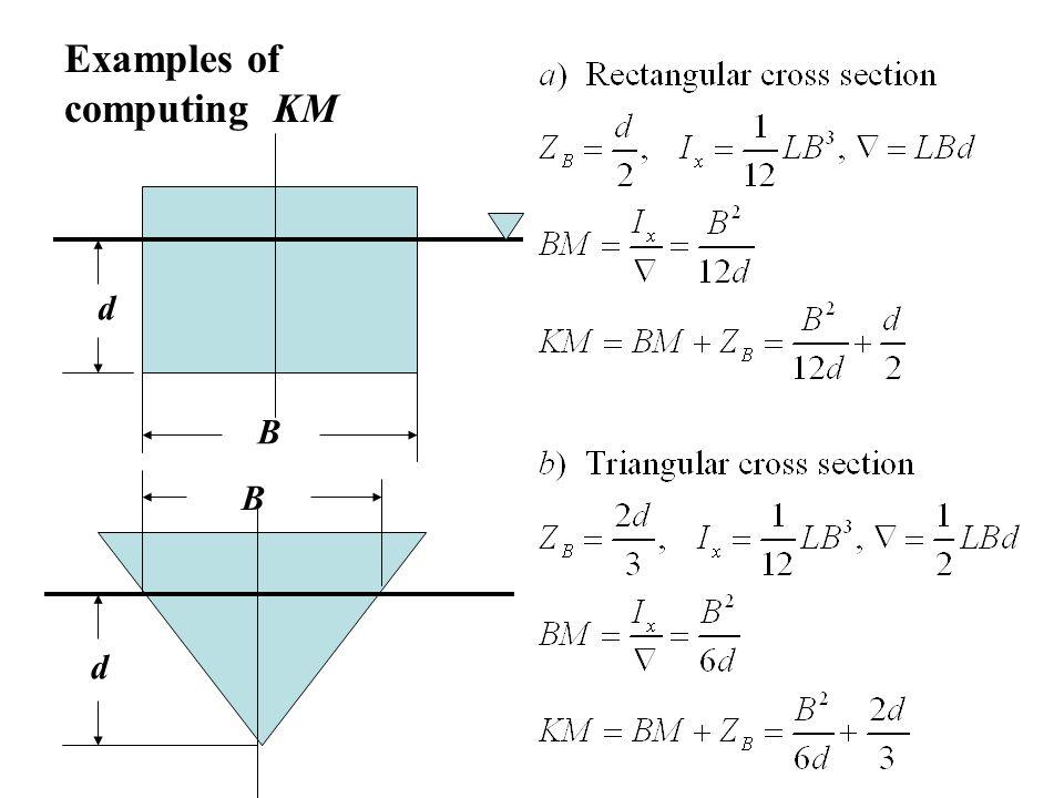 Examples of computing KM d B B d