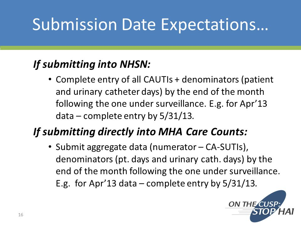 Submission Date Expectations…