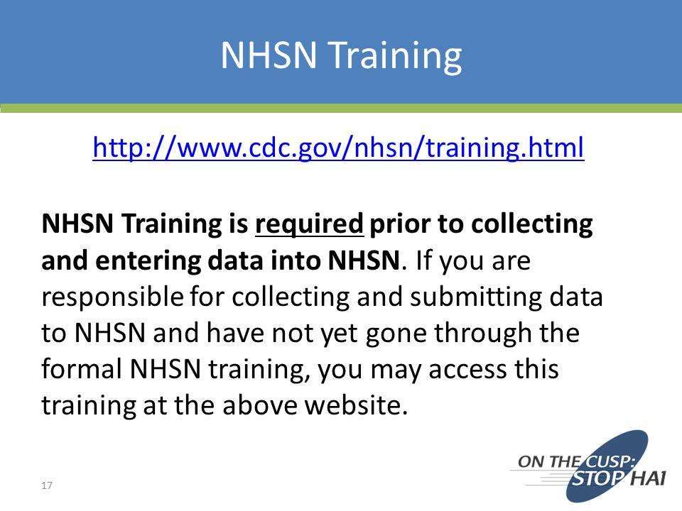 NHSN Training