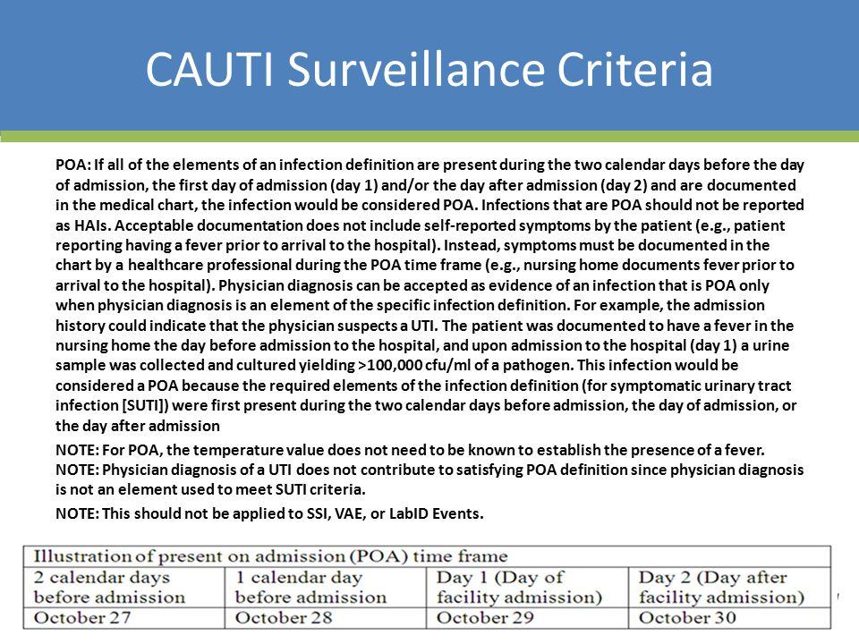 CAUTI Surveillance Criteria