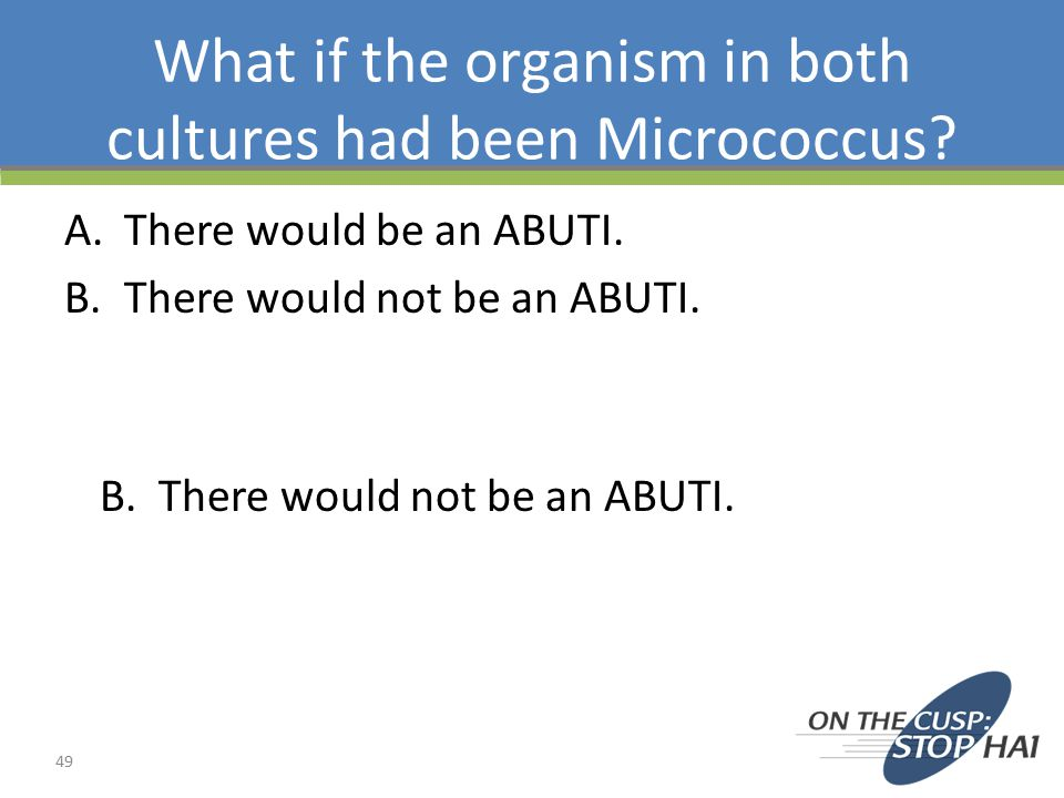 What if the organism in both cultures had been Micrococcus