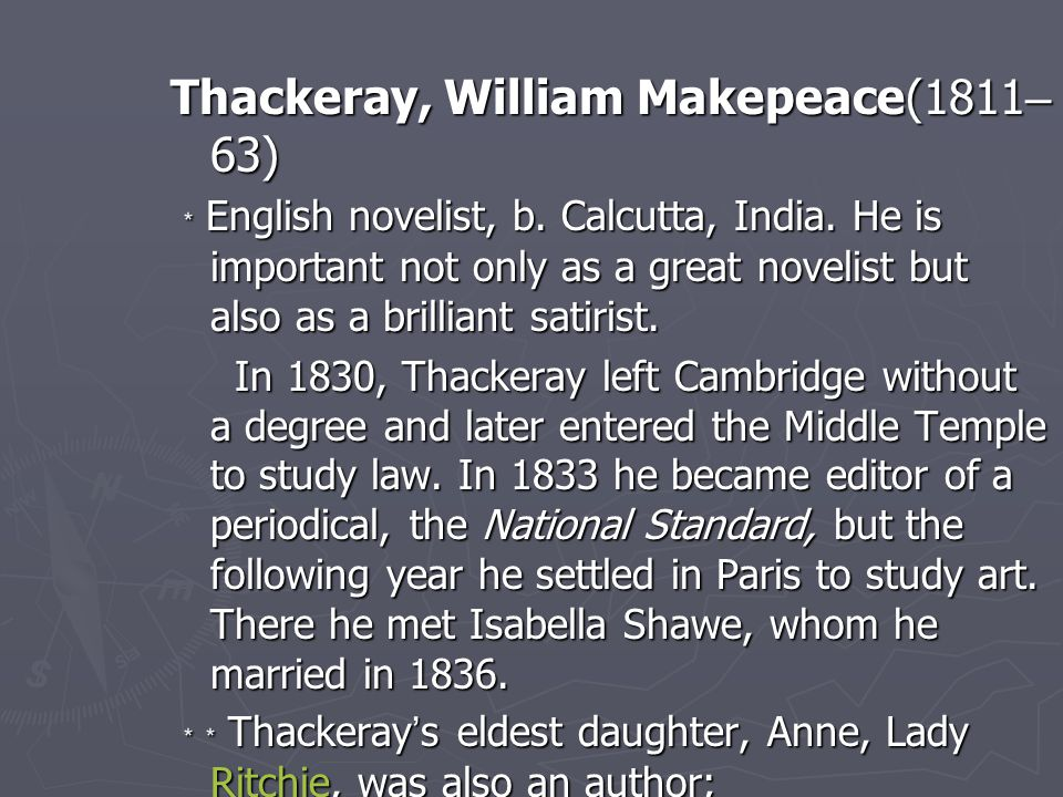 Thackeray, William Makepeace(1811–63)