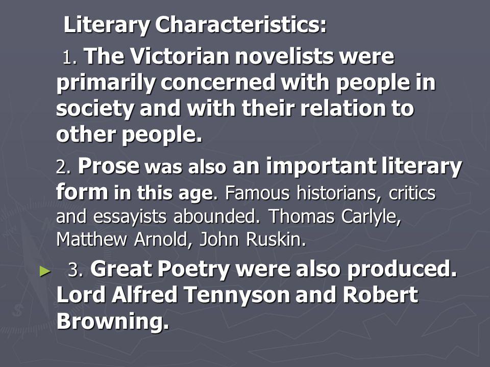 Literary Characteristics:
