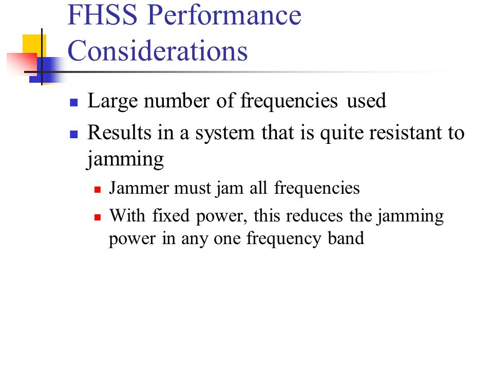 FHSS Performance Considerations