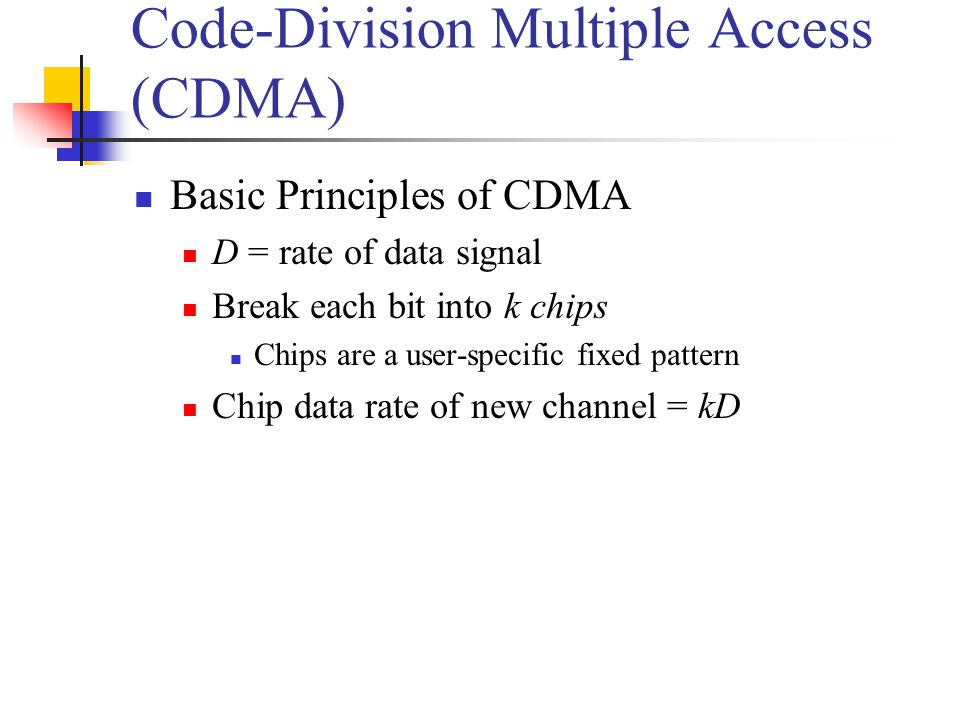 Code-Division Multiple Access (CDMA)