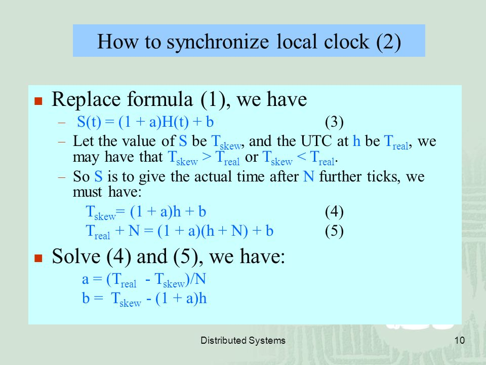 How to synchronize local clock (2)