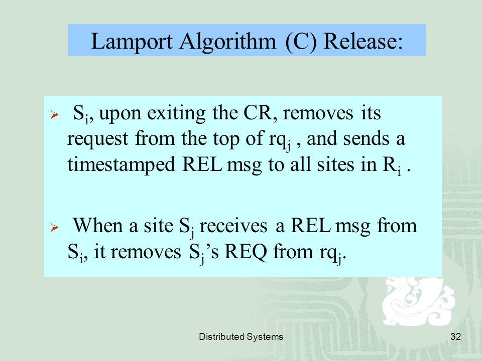 Lamport Algorithm (C) Release: