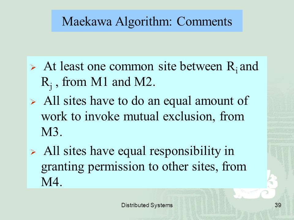 Maekawa Algorithm: Comments