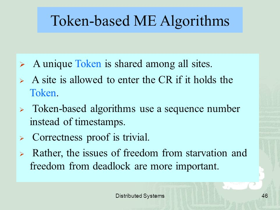 Token-based ME Algorithms