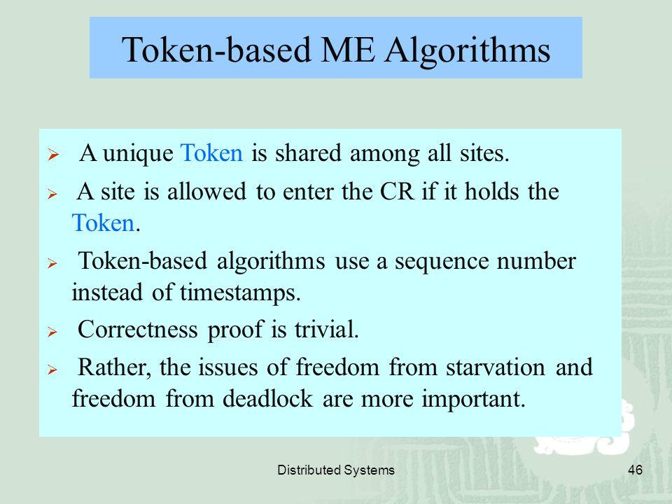Token-based ME Algorithms