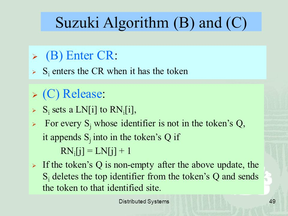 Suzuki Algorithm (B) and (C)