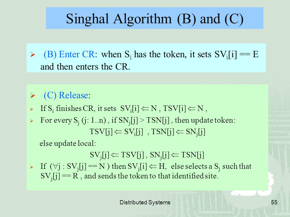 Singhal Algorithm (B) and (C)