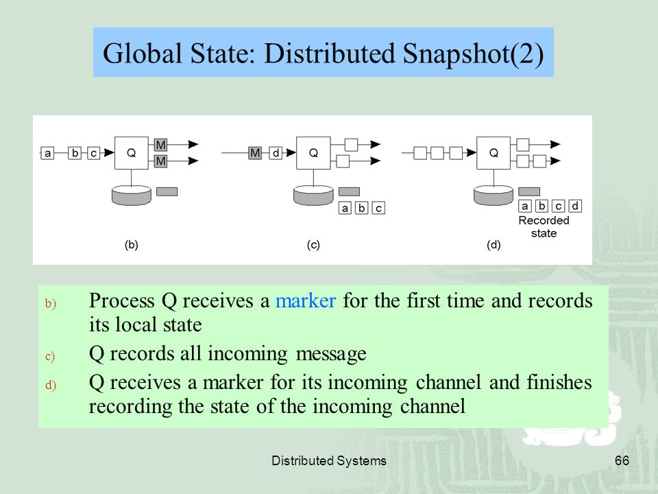 Global State: Distributed Snapshot(2)