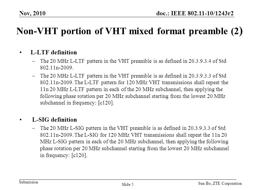 Non-VHT portion of VHT mixed format preamble (2)
