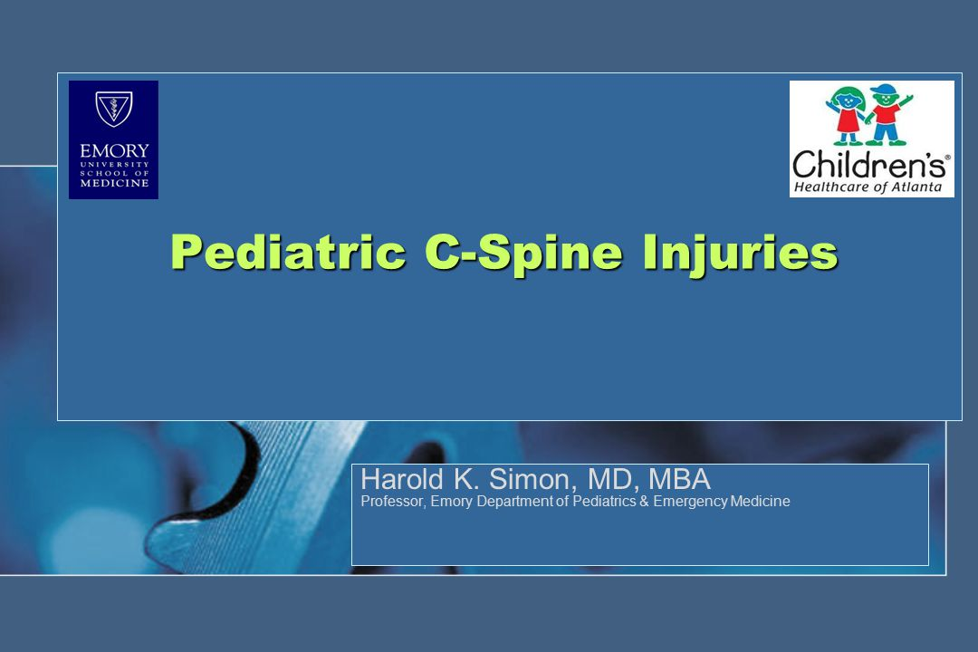 Pediatric C-Spine Injuries