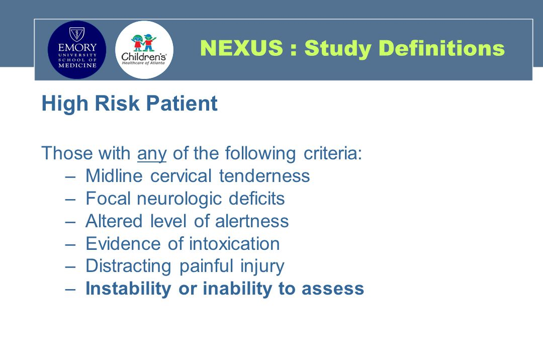 NEXUS : Study Definitions