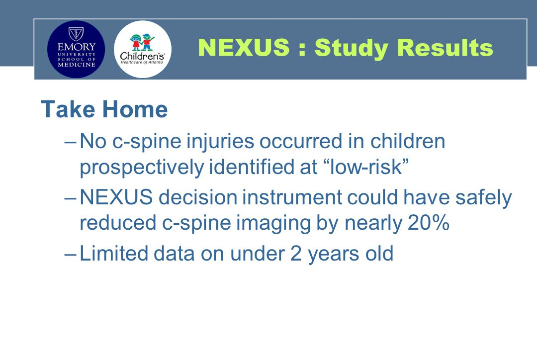 NEXUS : Study Results Take Home