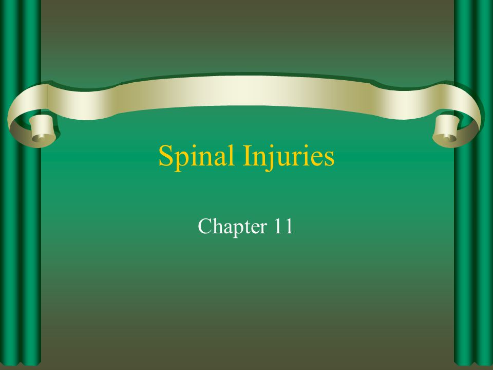 Spinal Injuries Chapter 11