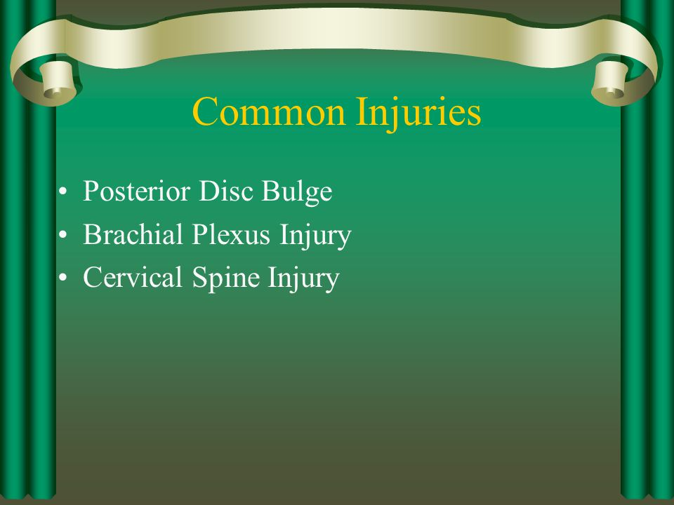 Common Injuries Posterior Disc Bulge Brachial Plexus Injury