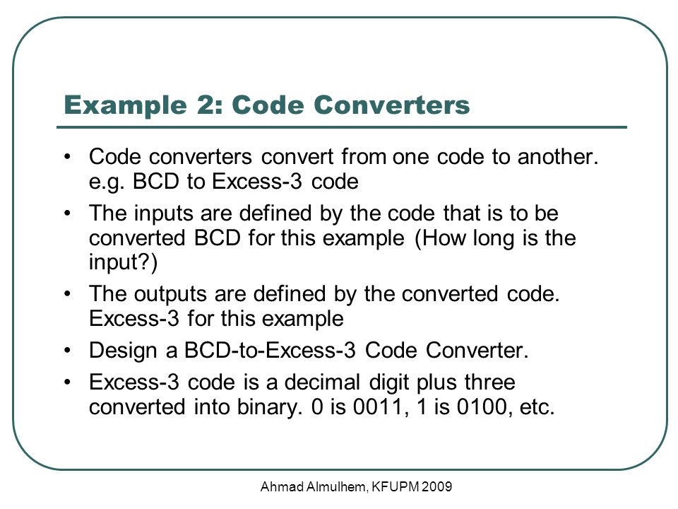 Example 2: Code Converters