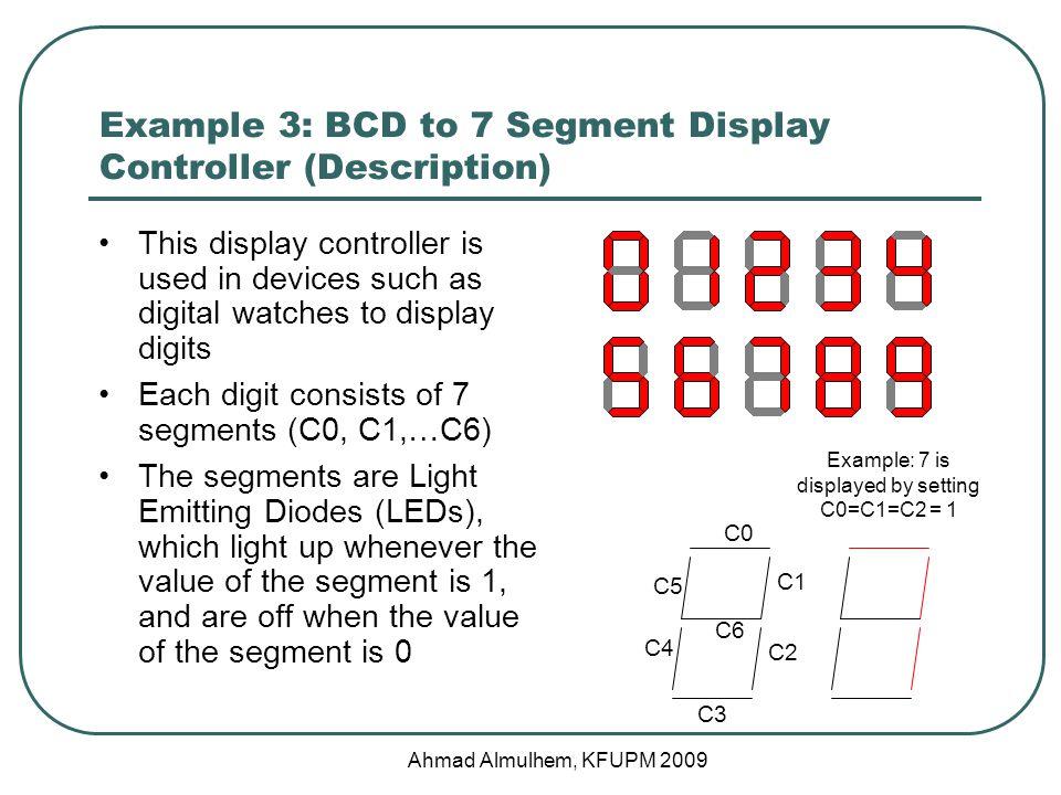 Example 3: BCD to 7 Segment Display Controller (Description)