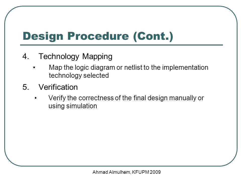 Design Procedure (Cont.)