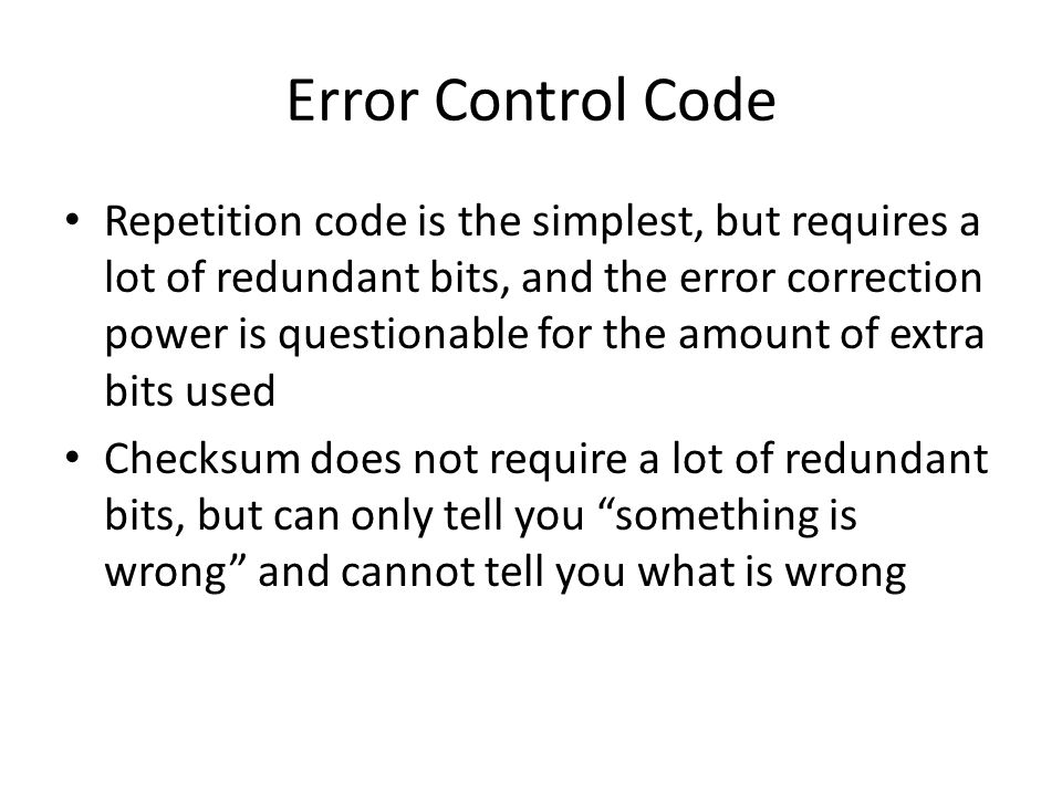 Error Control Code